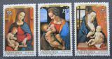 Poštovní známky Penrhyn 1975 Vánoce, umění Mi# 67-69