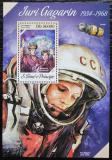Poštovní známka Svatý Tomáš 2013 Jurij Gagarin a V. Těreškovová Mi# Block 949 Kat 10€