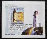 Poštovní známka Guinea-Bissau 2008 Majáky DELUXE Mi# 3724 Block
