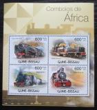 Poštovní známky Guinea-Bissau 2012 Africké lokomotivy Mi# 5862-65 Kat 9.50€