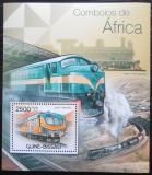 Poštovní známka Guinea-Bissau 2012 Africké lokomotivy Mi# Block 1035 Kat 10€