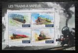 Poštovní známky Guinea 2015 Parní lokomotivy Mi# 11228-31 Kat 16€