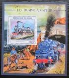 Poštovní známka Niger 2016 Parní lokomotivy Mi# Block 594 Kat 13€