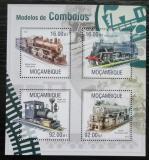 Poštovní známky Mosambik 2013 Parní lokomotivy Mi# 6762-65 Kat 13€