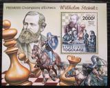 Poštovní známka Togo 2011 Wilhelm Steinitz, šachy Mi# Block 612 Kat 12€