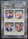Poštovní známky Sierra Leone 2016 Slavní šachisti Mi# 7658-61 Kat 11€