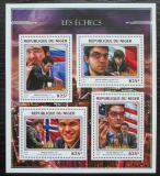 Poštovní známky Niger 2016 Slavní šachisti Mi# 4457-60 Kat 13€