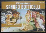 Poštovní známka Svatý Tomáš 2015 Umění, Sandro Botticelli Mi# Block 1095 Kat 10€
