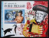Poštovní známka Svatý Tomáš 2016 Umění, Pablo Picasso Mi# Block 1239 Kat 12€