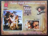Poštovní známka Svatý Tomáš 2010 Umění, Peter Paul Rubens Mi# Block 746 Kat 11€