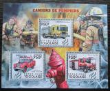 Poštovní známky Togo 2012 Hasičská auta Mi# 4385-87 Kat 11€
