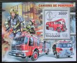 Poštovní známka Togo 2012 Hasičská auta Mi# Block 693 Kat 12€