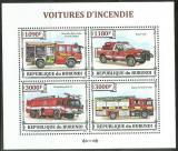 Poštovní známky Burundi 2013 Hasičská auta Mi# 3298-3301 Bogen Kat 10€