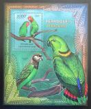 Poštovní známka SAR 2012 Papoušci Mi# Block 949 Kat 14€