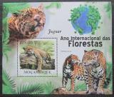 Poštovní známka Mosambik 2011 Jaguár americký Mi# Block 425 Kat 10€