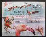Poštovní známka Mosambik 2011 Plameňáci Mi# Block 501 Kat 10€