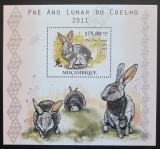 Poštovní známka Mosambik 2010 Čínský nový rok, rok zajíce Mi# Block 376 Kat 10€