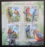 Poštovní známky Mosambik 2012 Vyhynulí papoušci Mi# 5846-49 Kat 15€