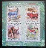 Poštovní známky Mosambik 2012 Vyhynulí savci Afriky Mi# 5856-59 Kat 15€