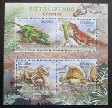 Poštovní známky Mosambik 2012 Prehistoričtí plazi Mi# 5836-39 Kat 15€