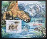 Poštovní známka Mosambik 2012 Prehistoričtí plazi Mi# Block 641 Kat 10€