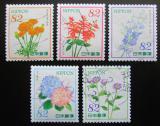 Poštovní známky Japonsko 2015 Květiny Mi# 7262-66 Kat 8€