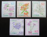 Poštovní známky Japonsko 2016 Květiny Mi# 7363-67 Kat 8€