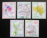 Poštovní známky Japonsko 2017 Květiny Mi# 8397-8401 Kat 8€