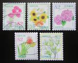 Poštovní známky Japonsko 2017 Květiny Mi# 8443-47 Kat 8€