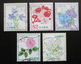 Poštovní známky Japonsko 2018 Květiny Mi# 9028-32 Kat 8€
