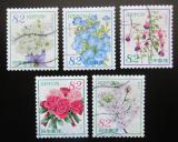 Poštovní známky Japonsko 2018 Květiny Mi# 9523-27 Kat 8€