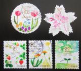 Poštovní známky Japonsko 2018 Jarní květiny Mi# 9018-22 Kat 8€