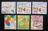 Poštovní známky Japonsko 2017 Pozdravy Mi# 8874-79 Kat 9.60€