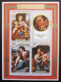 Poštovní známky Penrhyn 1987 Vánoce, umění Mi# Block 78 Kat 18€