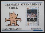 Poštovní známka Grenada Gren. 1992 LOH Barcelona, baseball Mi# Block 237 Kat 17€