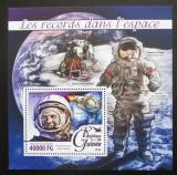 Poštovní známka Guinea 2016 Vesmírné rekordy Mi# Block 2639 Kat 16€
