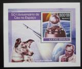 Poštovní známka Guinea-Bissau 2007 První let do vesmíru, Laika Mi# 3683 Block