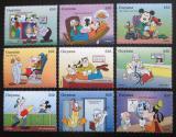 Poštovní známky Guyana 1995 Disney, Mickey Mouse Mi# 5072-80