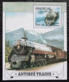 Poštovní známka Afghanistán 1998 Parní lokomotivy Mi# Block 100