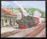 Poštovní známka Afghanistán 2001 Parní lokomotiva Mi# Block 121