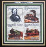 Poštovní známky Mosambik 2002 Parní lokomotivy, Stephenson Mi# 2471-74 B Kat 12€