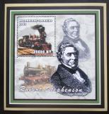 Poštovní známka Mosambik 2002 Parní lokomotivy, Stephenson Mi# 2472 Block
