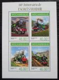 Poštovní známky Mosambik 2014 Parní lokomotivy Mi# 7145-48 Kat 11€