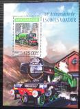 Poštovní známka Mosambik 2014 Parní lokomotivy Mi# Block 869 Kat 10€