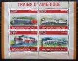 Poštovní známky Togo 2010 Americké lokomotivy Mi# 3768-71 Kat 12€
