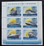 Poštovní známky Komory 2008 Slavné lodě Mi# 1916-21 Kat 14€