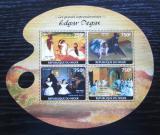 Poštovní známky Niger 2014 Umění, Edgar Degas Mi# 3125-28 Kat 12€