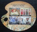 Poštovní známky Niger 2014 Umění, Alfons Mucha Mi# 2752-55 Kat 12€