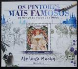 Poštovní známka Mosambik 2016 Umění, Alfons Mucha Mi# Block 1244 Kat 20€