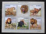 Poštovní známky Svatý Tomáš 2010 Lvi Mi# 4454-58 Kat 11€